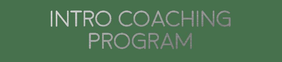 Intro Coaching Program